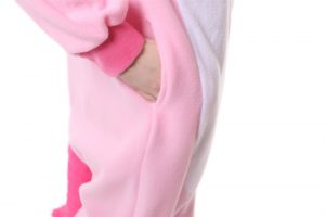 Kombinezon rozrywkowy - jednorożec różowy full